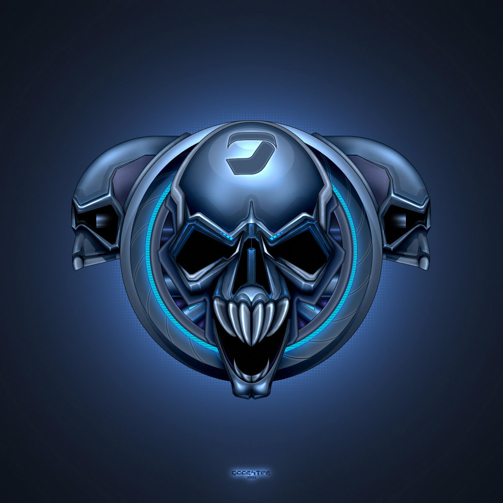Free download 3DAbstract Brainwash Skull 3D iPad iPhone HD Wallpaper