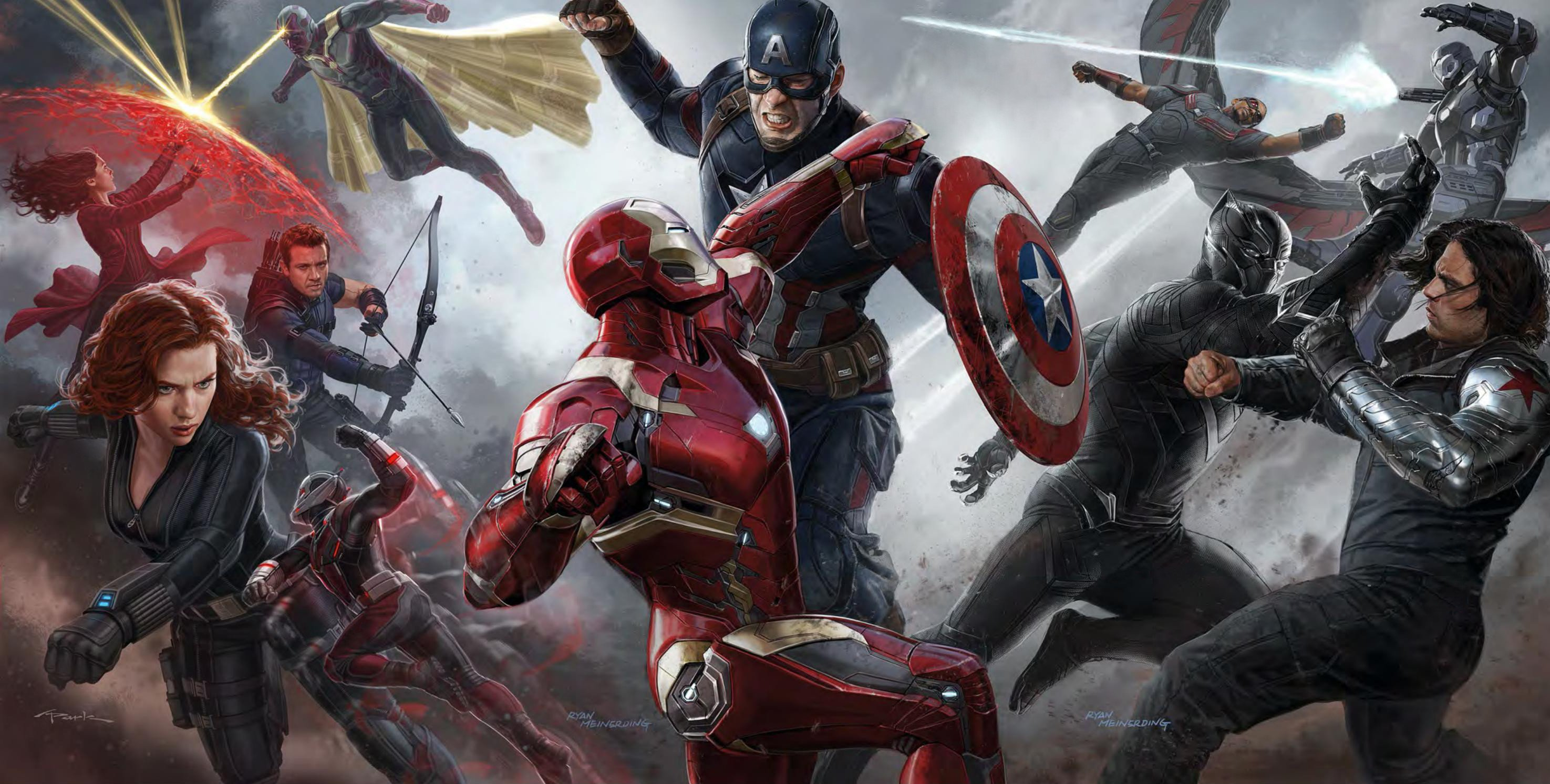 Captain America Civil War   The Avengers Wallpaper 39149918 2950x1493