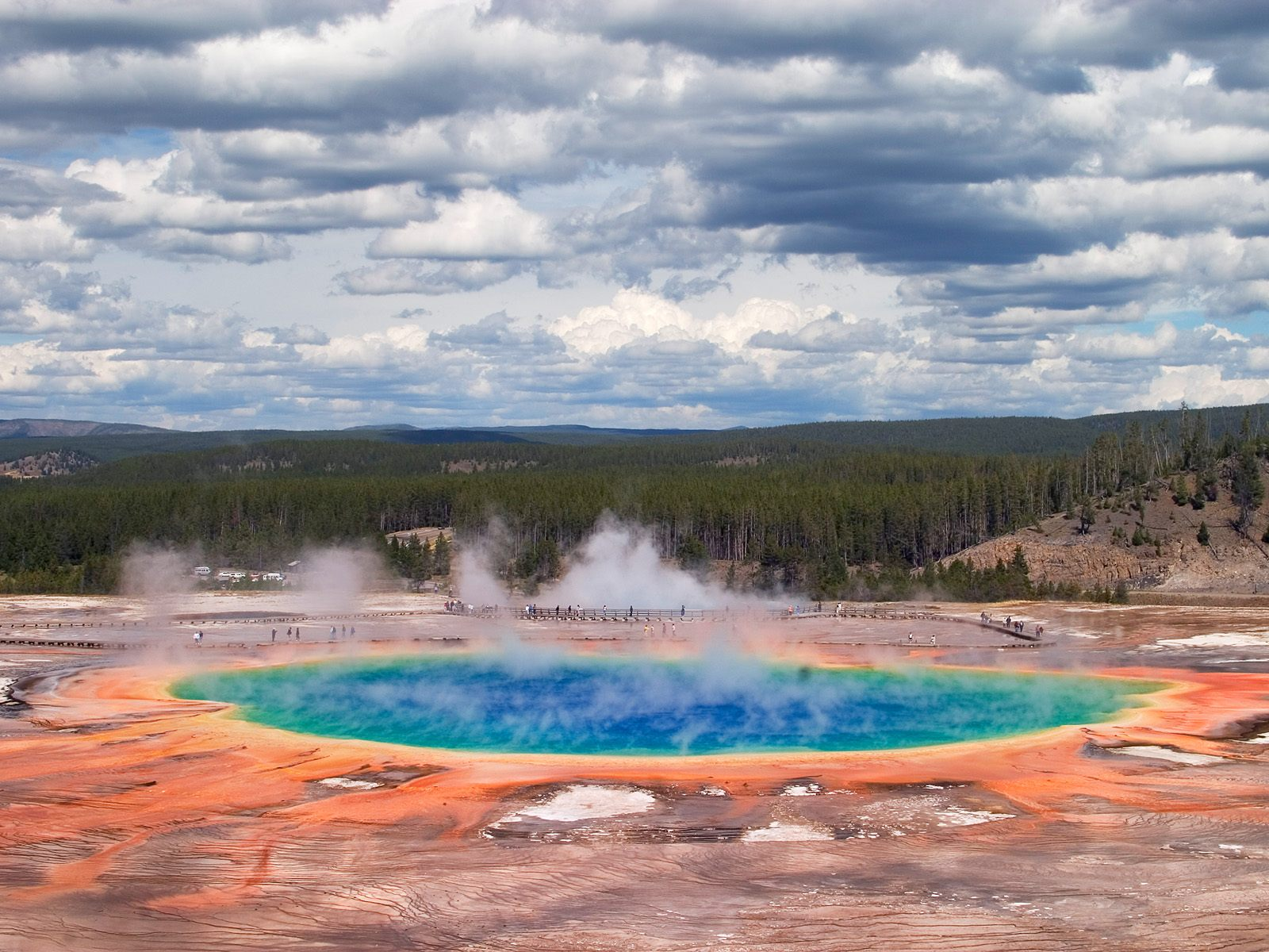 Grand Prismatic Spring Yellowstone National Park Wyoming Wallpaper 1600x1200