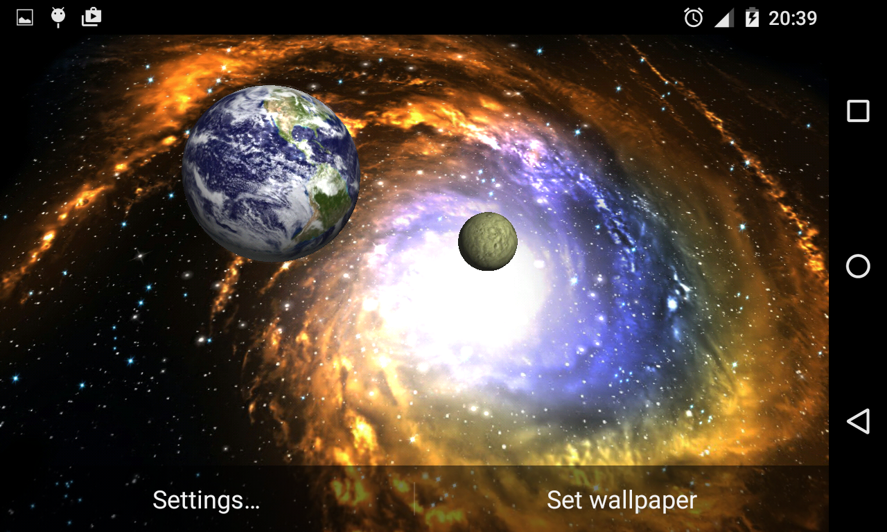 3D Galaxy Live Wallpaper Android Apps auf Google Play 1280x768