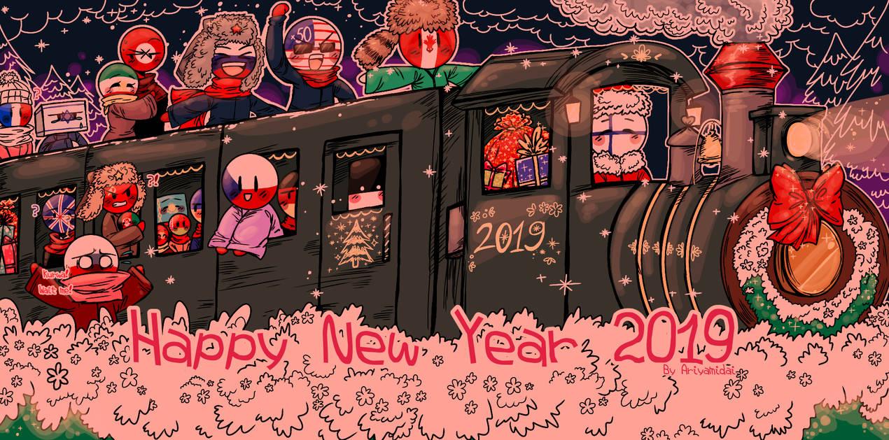 Countryhumans Happy New Year 2019 by Ariyamidai 1270x629