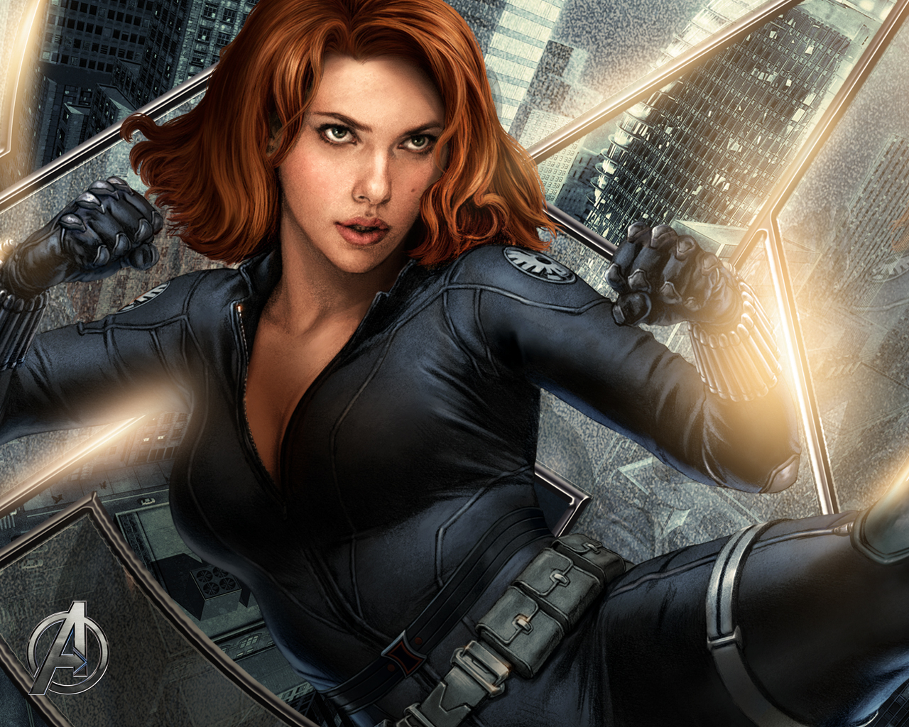 read201104marvels the avengersavengers wallpaper 2 black widow 1280x1024