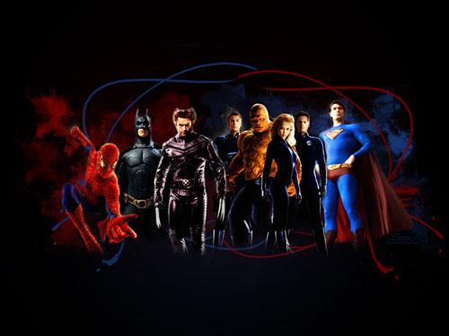 3d super heroes wallpapers wallpapersafari for Dessin 3d gratuit