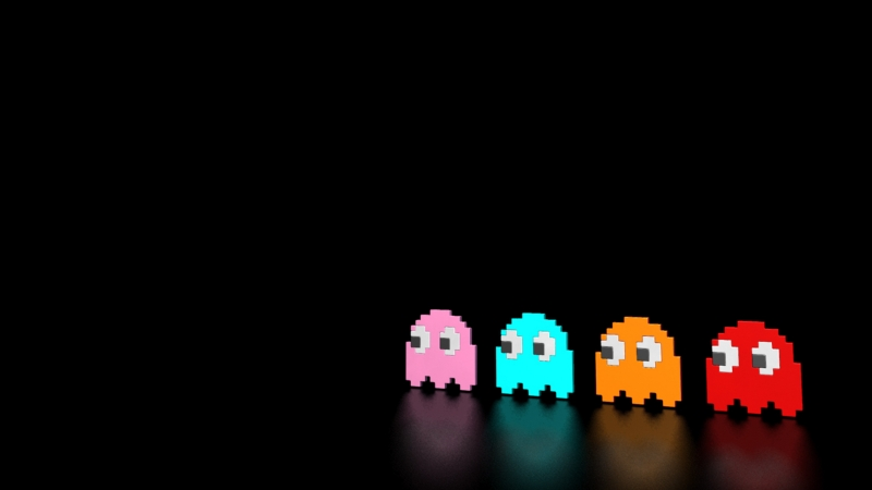 games pacman retro games 1600x900 wallpaper Video games Wallpaper 800x450