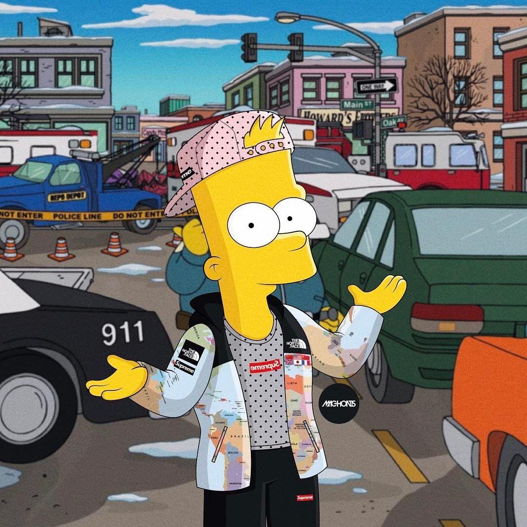 Supreme Simpson Cartoon Wallpapers   Top Supreme Simpson 1080x1080
