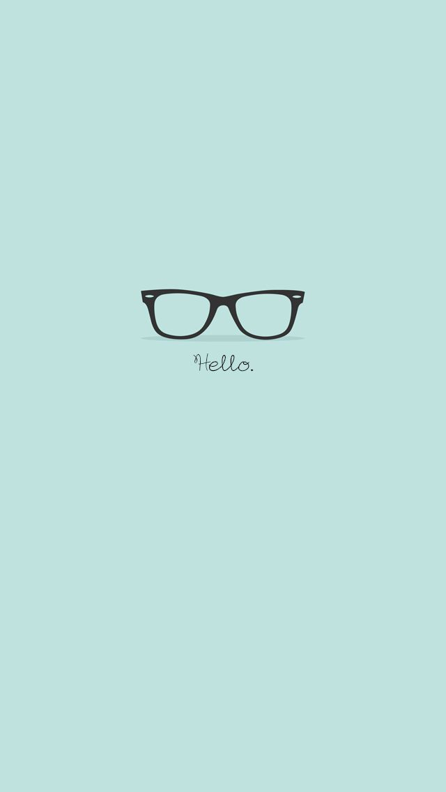 Flat Hipster Glasses Turquoise iPhone 5 Wallpaper iPod Wallpaper 640x1136