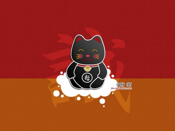 Lucky Cat Wallpaper Lucky cat by jde 600x450