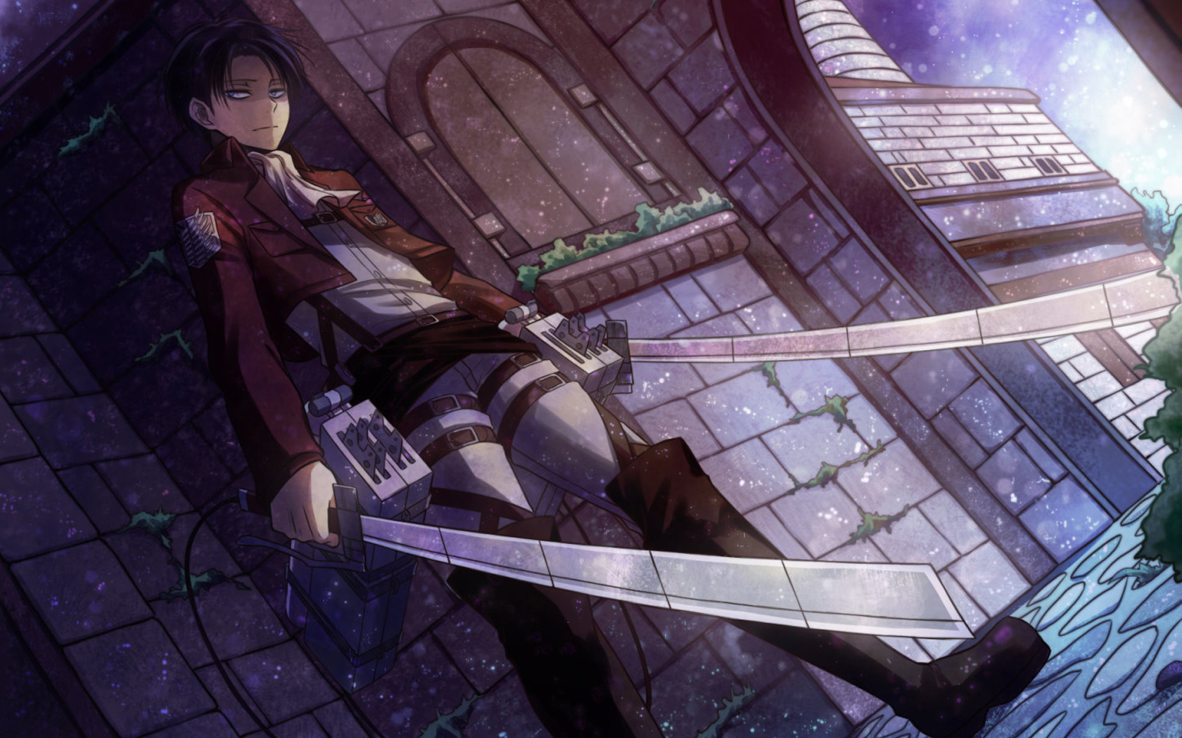 levi rivaille attack on titan shingeki no kyojin anime 1680x1050
