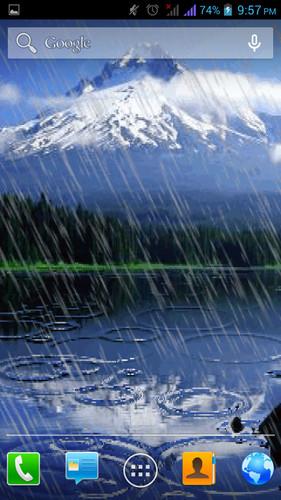 Rain Live Wallpaper cell phone app 281x500