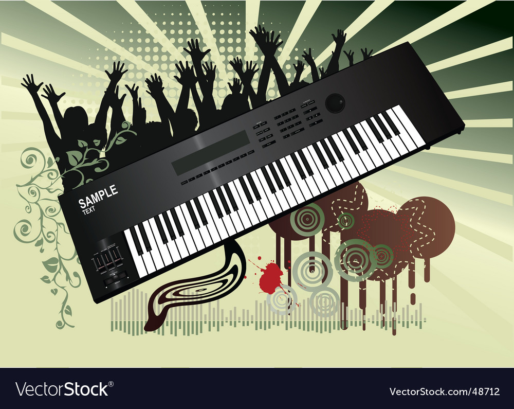 Synthesizer background Royalty Vector Image 1000x795