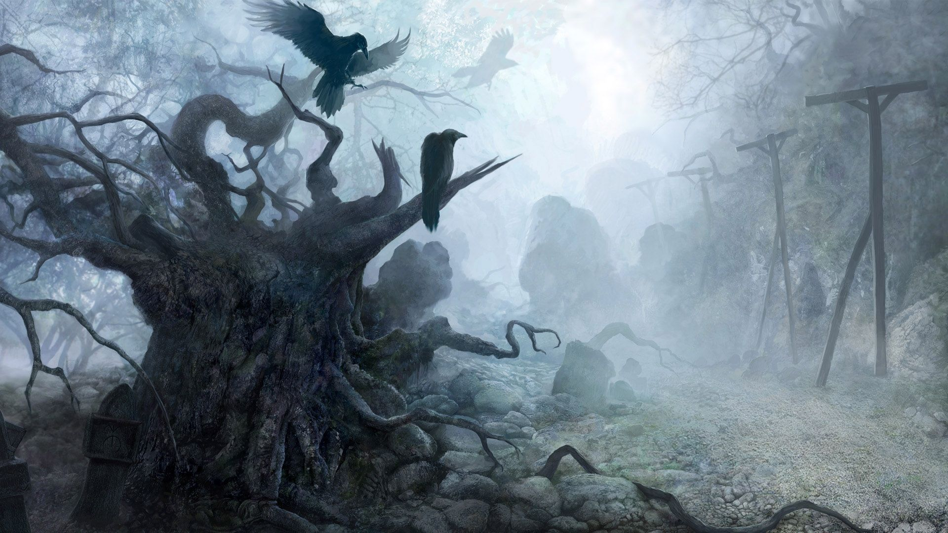 Gothic Dark Art 3D Fantasy Places HD picture nr 47798 1920x1080