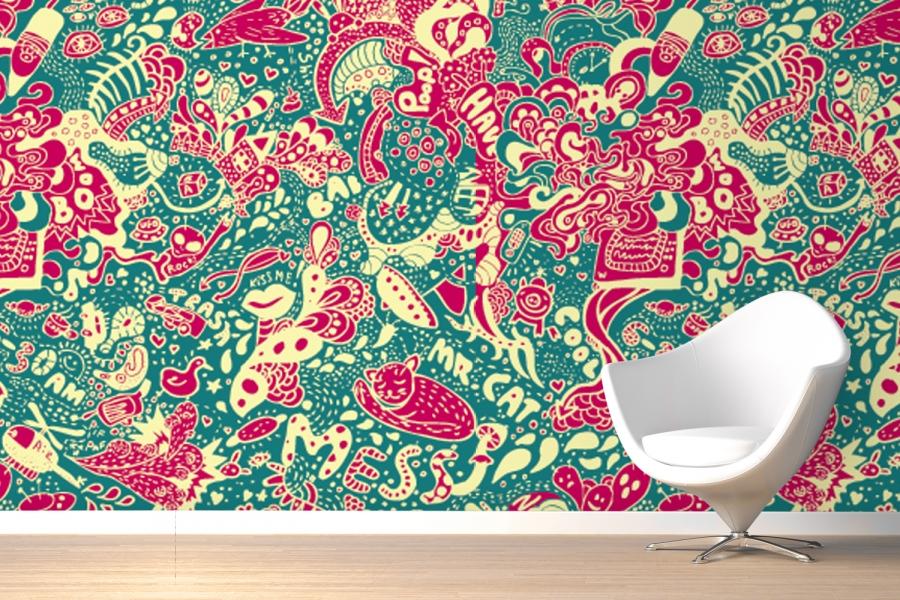 Great Graffiti Mural Wallpaper Room 900x600