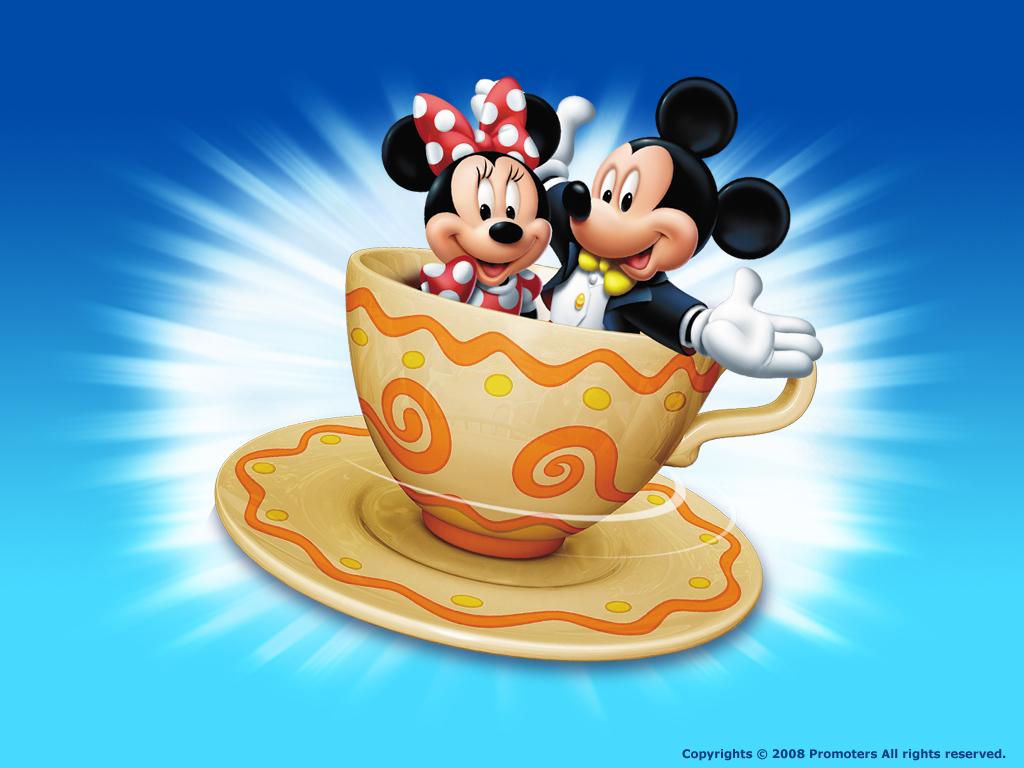 Mickey and Minniecute cartoon desktop wallpaper 1024x768