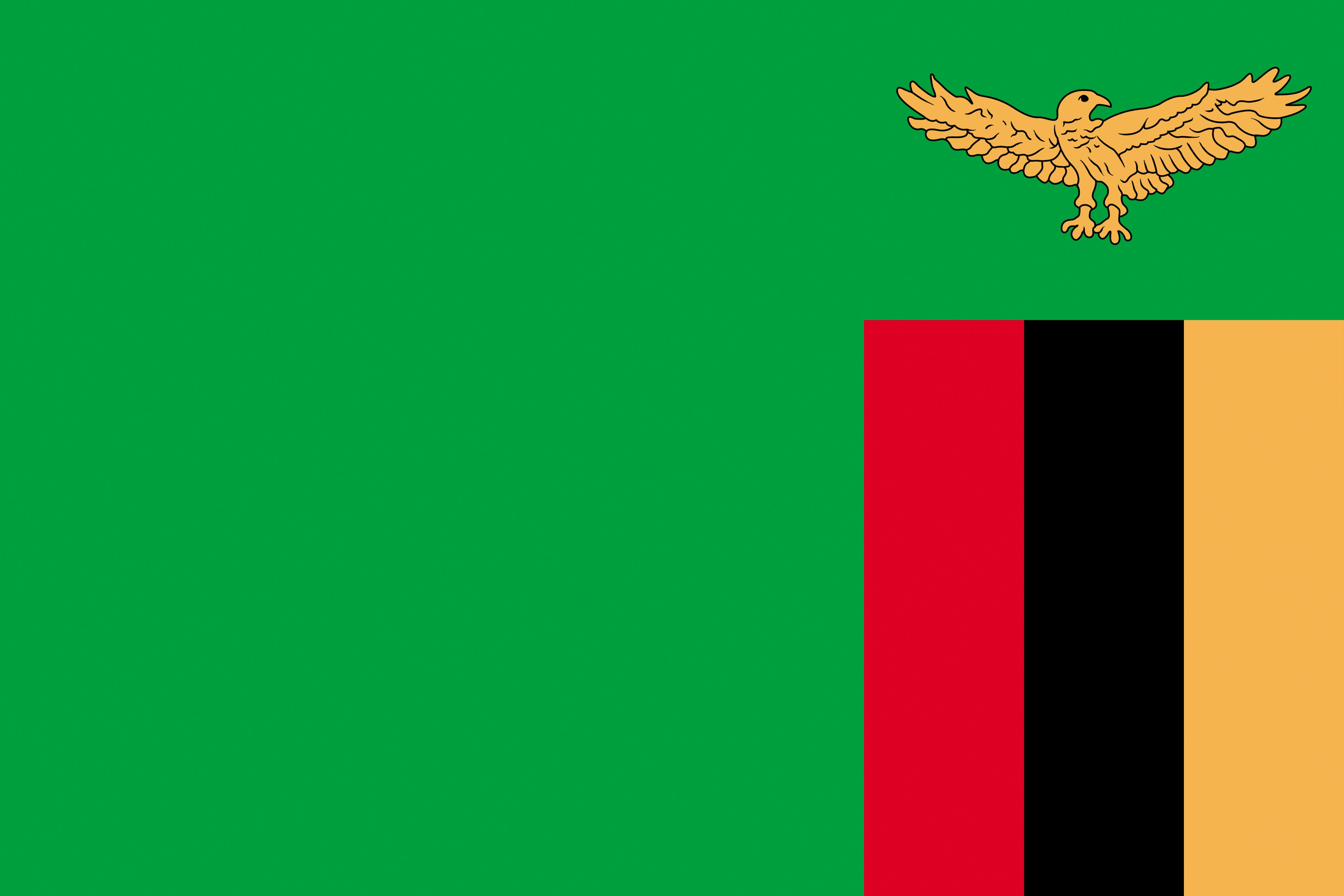 Photos Zambia Flag 4701x3134 4701x3134