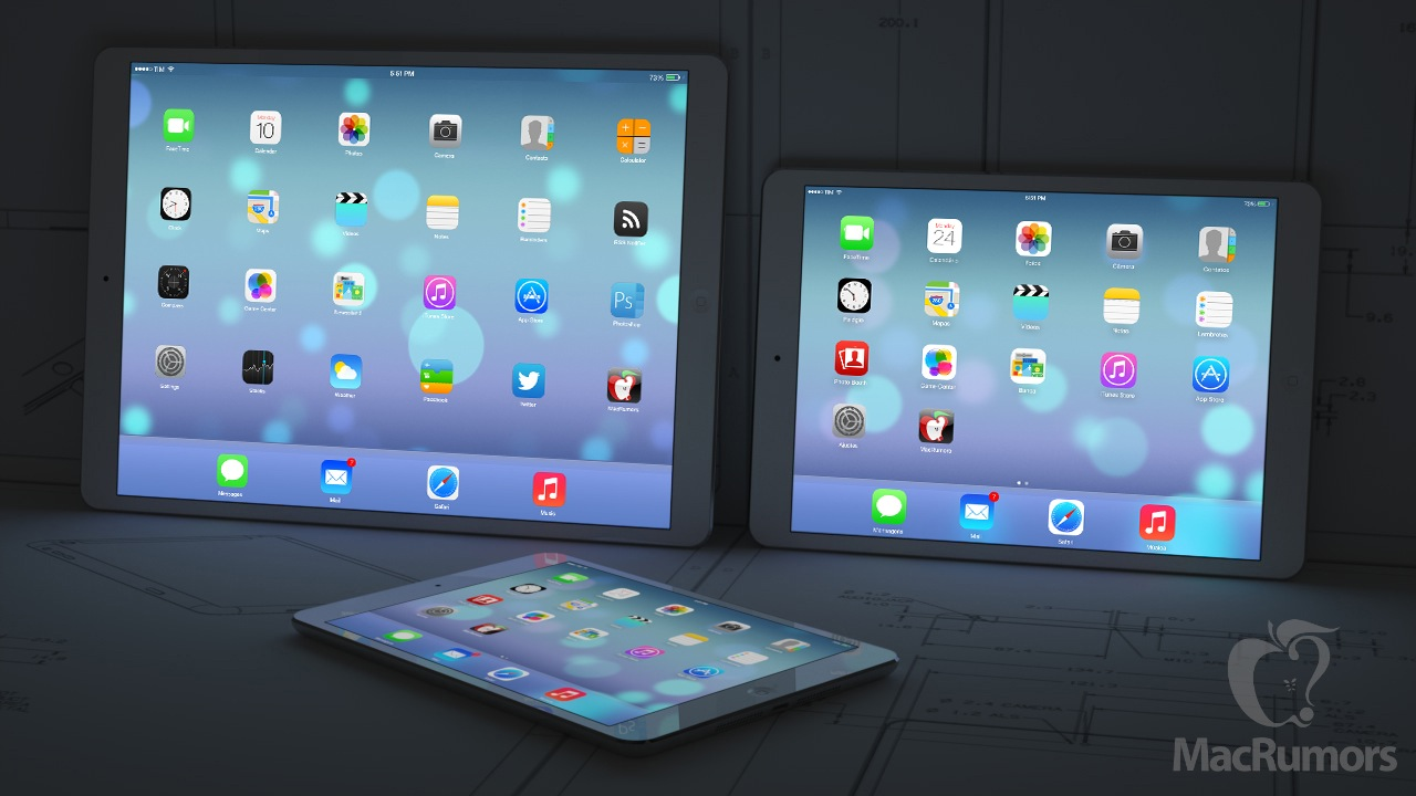 inch iPad left with rumored fifth generation iPad right and iPad 1280x720