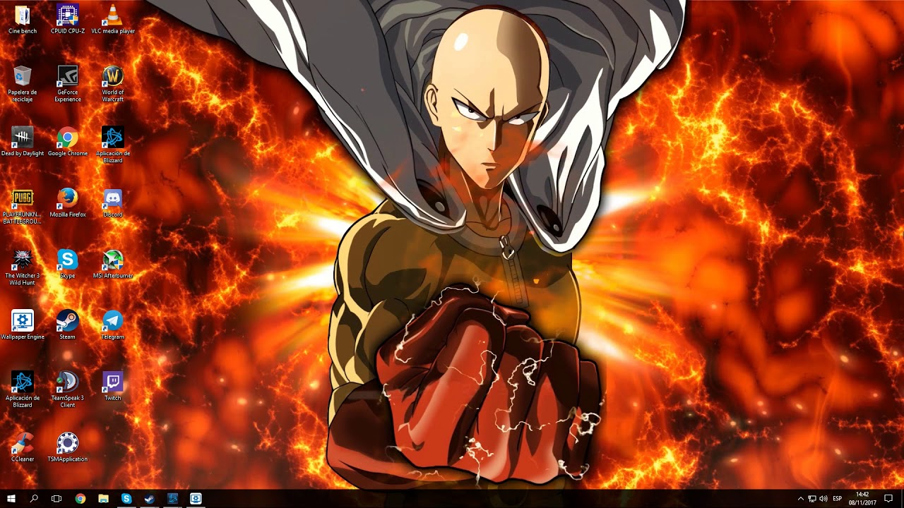 Free Download Fondo Wallpaper Engine One Punch Man 1280x720