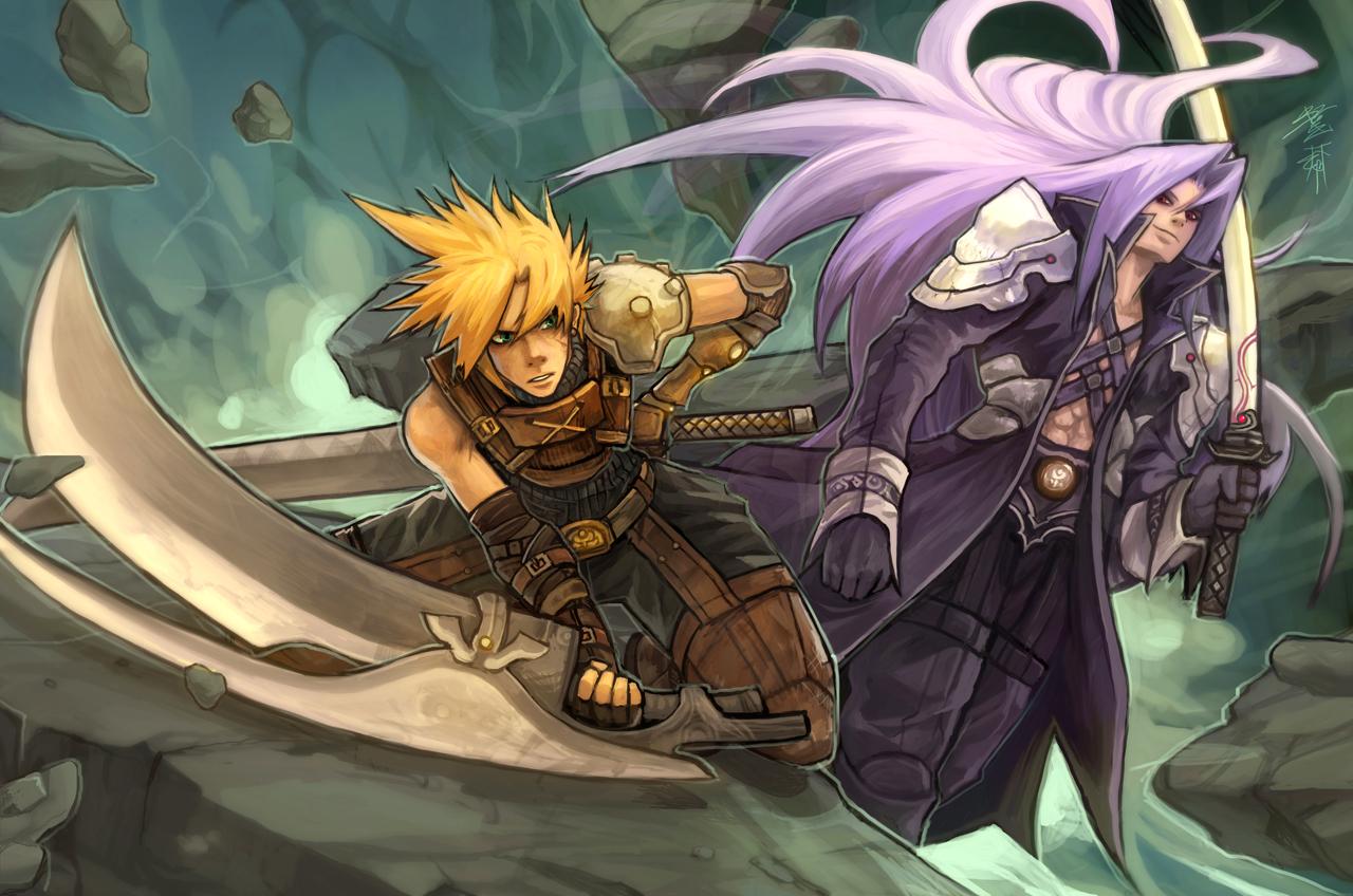 Cloud vs Sephiroth by buraisuko 1280x848