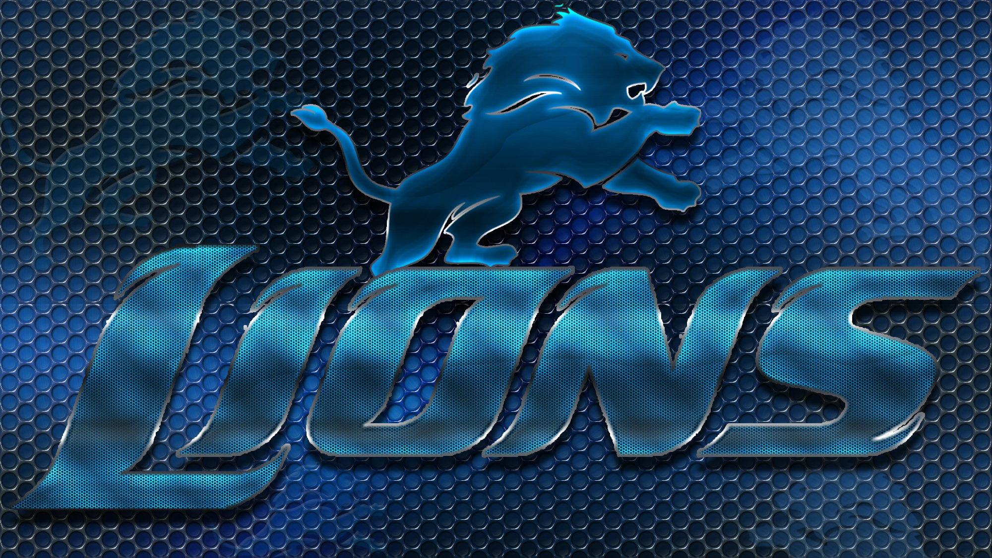 Detroit Lions Football Team Logo Wallpapers HD 2000x1126