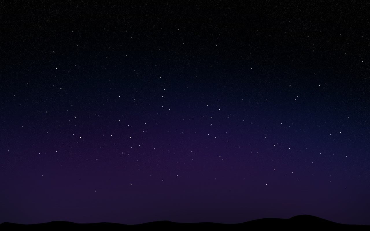 1280x800 Starry Night Sky desktop PC and Mac wallpaper 1280x800