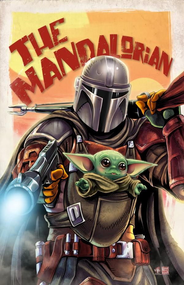 The Mandalorian the Child Star wars images Star wars art 600x927