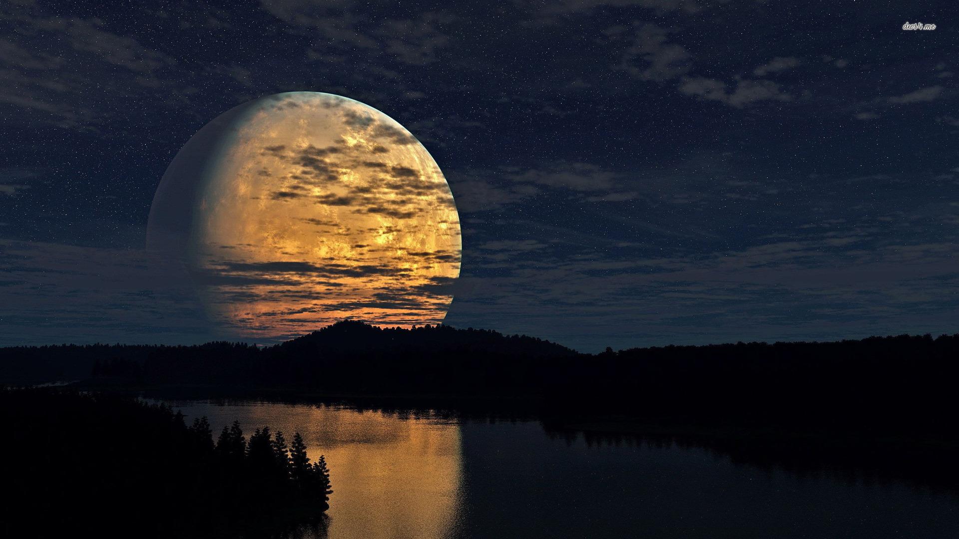wallpaper 24531 full moon shining river 1920x1080 fantasy wallpaper 1920x1080