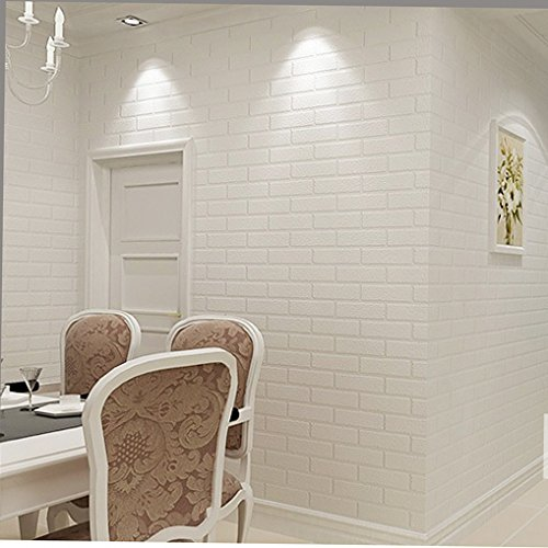 ZZ 03 Vinyl Faux White Brick Wallpaper for Living room WallPaper New 500x500