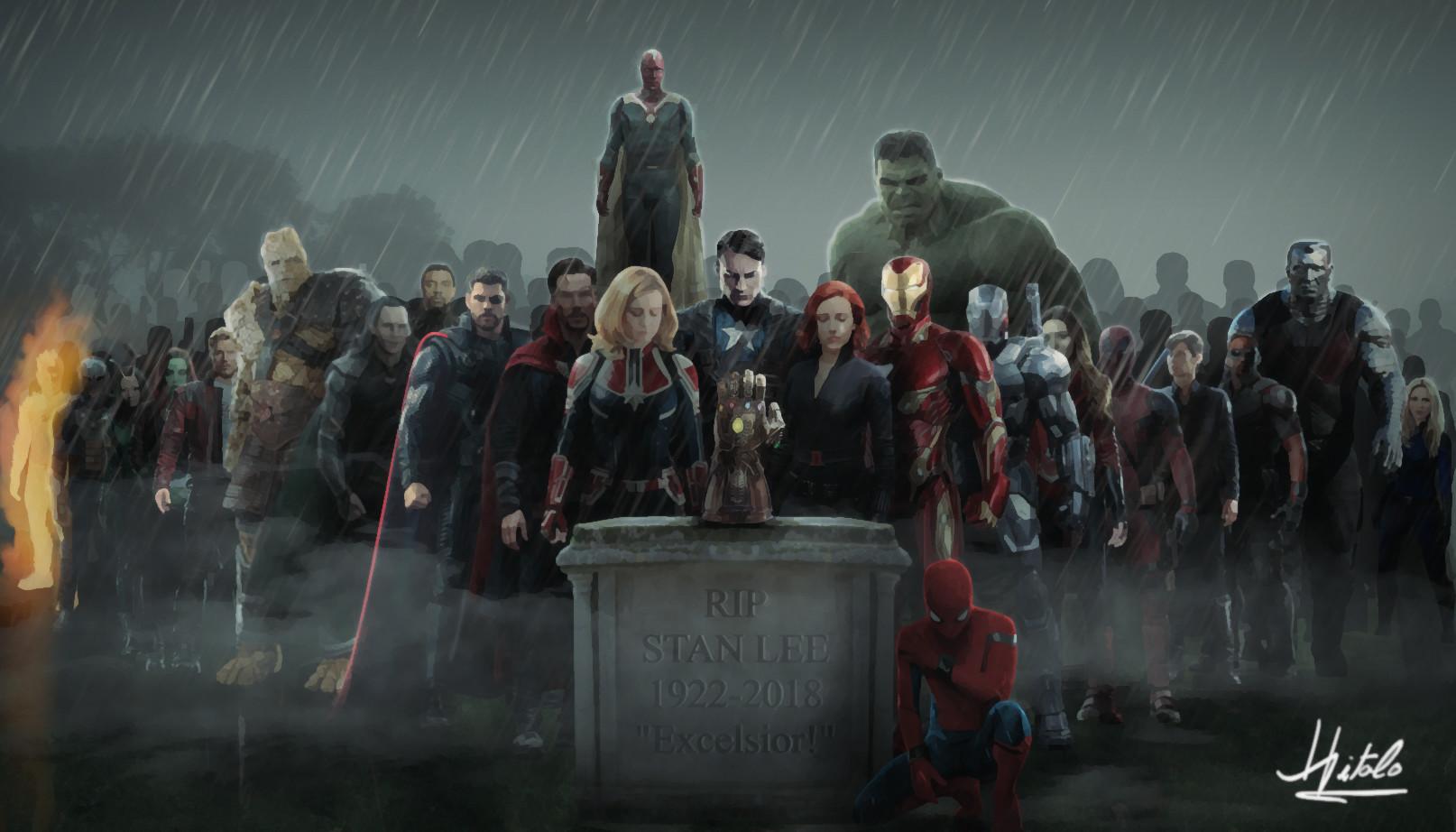 Stan Lee Tribute Wallpaper By Hitalo Fred   Captain America 1614x922