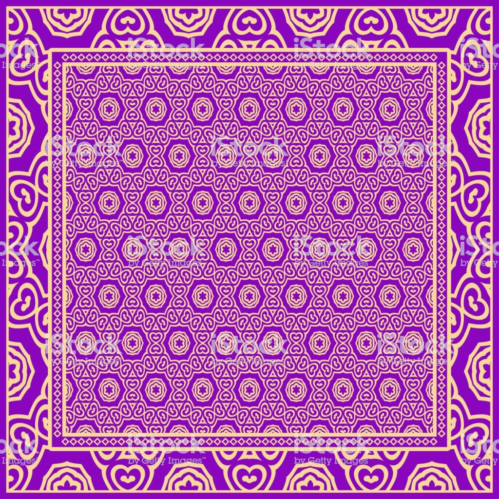 Geometric Ornament With Frame Border Artdeco Background Bandanna 1024x1024