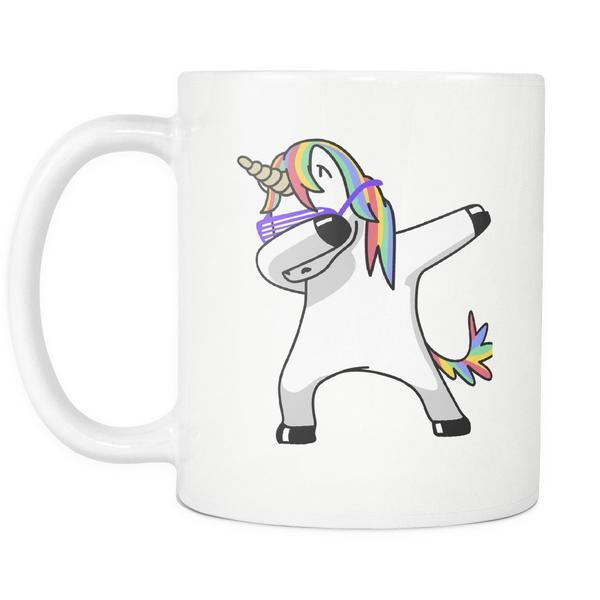 Dabbing Unicorn White Coffee Mug Top Notch Products 600x600