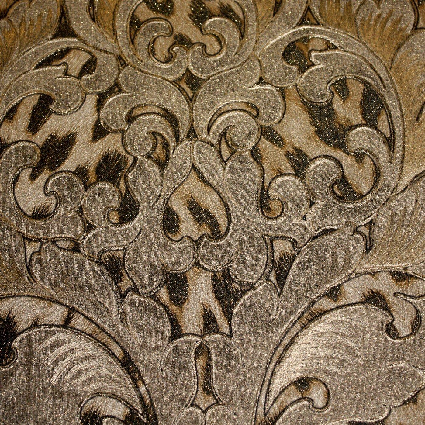 Roberto Cavalli Pewter Leopard Damask Wallpaper 15057rc   Luxury 1398x1398