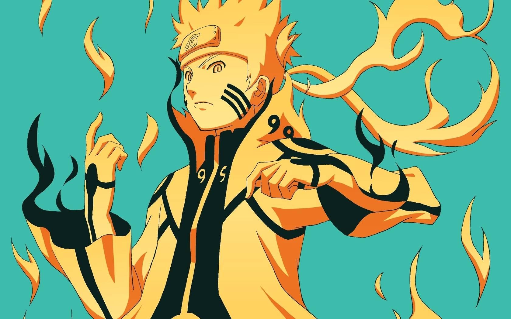 Naruto Nine Tails Chakra Mode   Naruto Picture 1680x1050