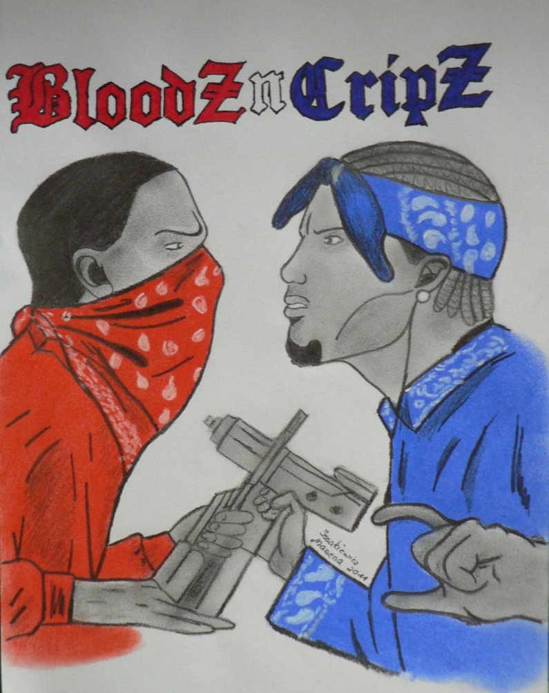 Bloods and crips wallpaper wallpapersafari - Blood gang cartoon ...