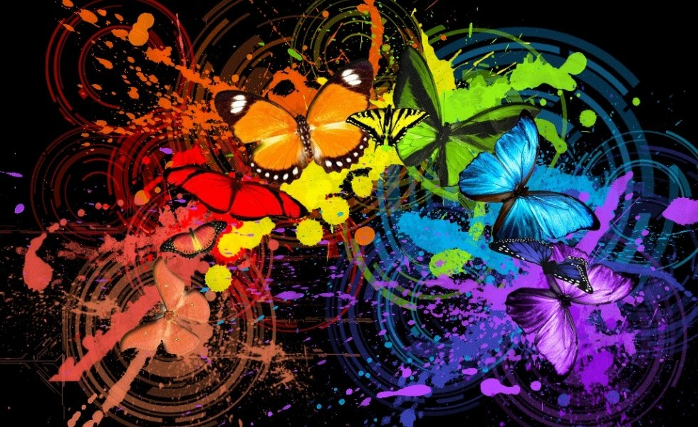abstract butterfly hd background wallpapers55com   Best Wallpapers 980x600