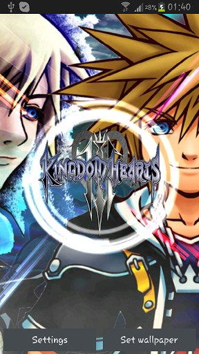 View bigger   Kingdom Hearts Live Wallpaper for Android screenshot 288x512