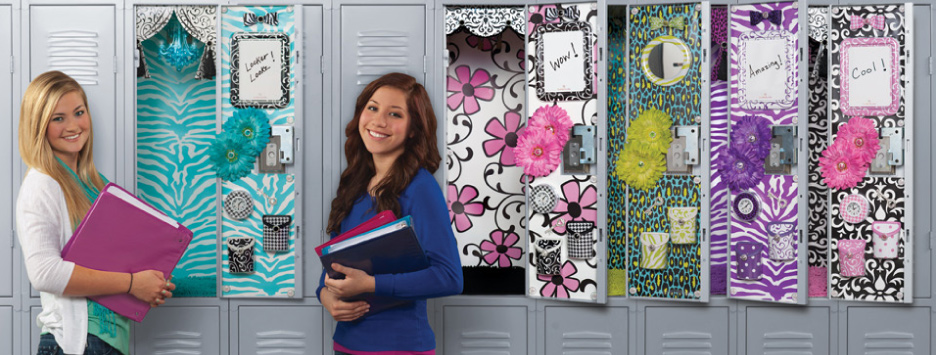 give your locker a personalized look with locker lookz lockerlookz - How To Decorate Your Locker