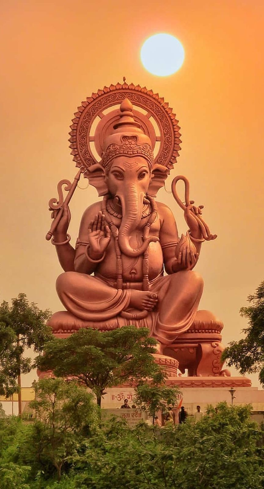 Lord Ganesha Statue Sunset Mobile WallpaperIndian God Lord 864x1597