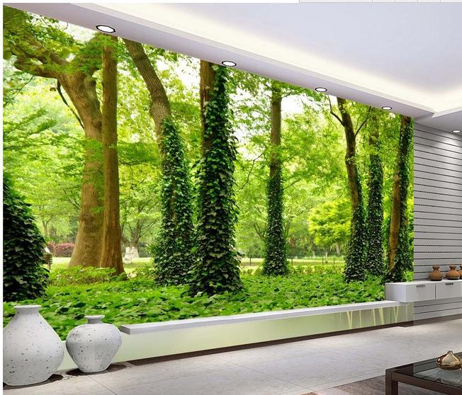 New large wallpaper Custom wallpaper HD forest landscape mural wall 652x558