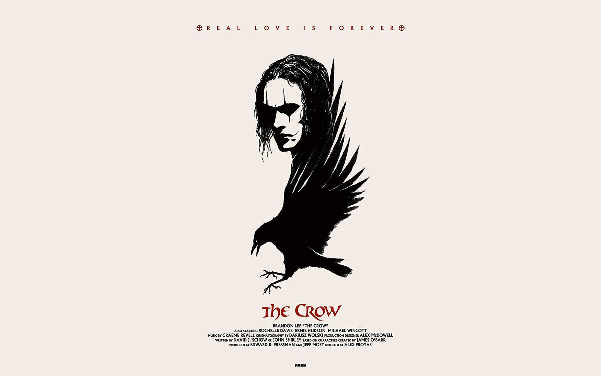 The Crow illustration The Crow Brandon Lee movies fan art HD 1920x1200