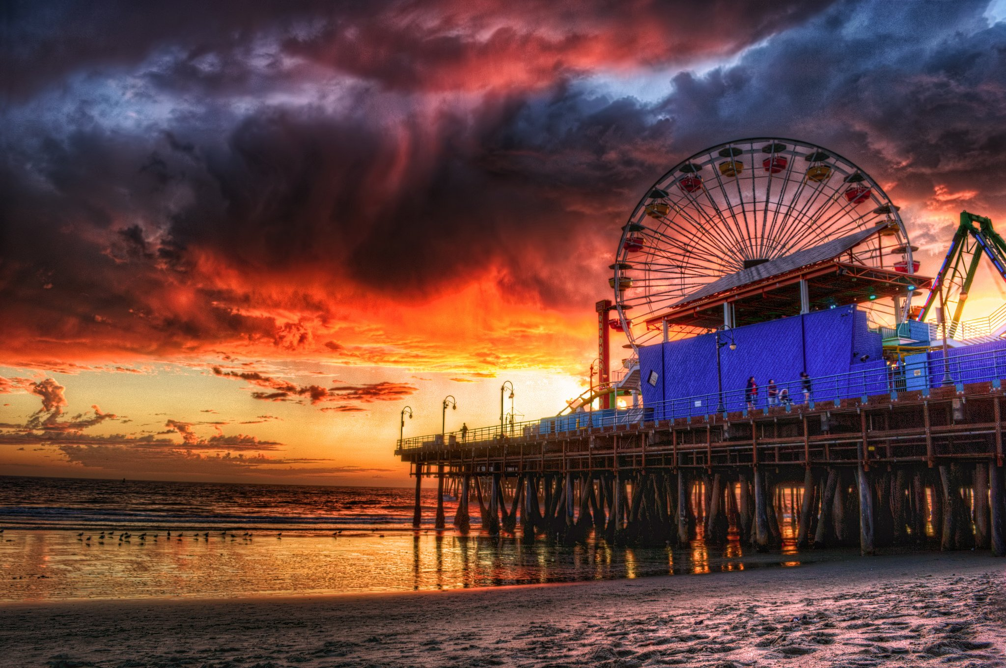 65 Venice Beach Night Wallpaper On Wallpapersafari