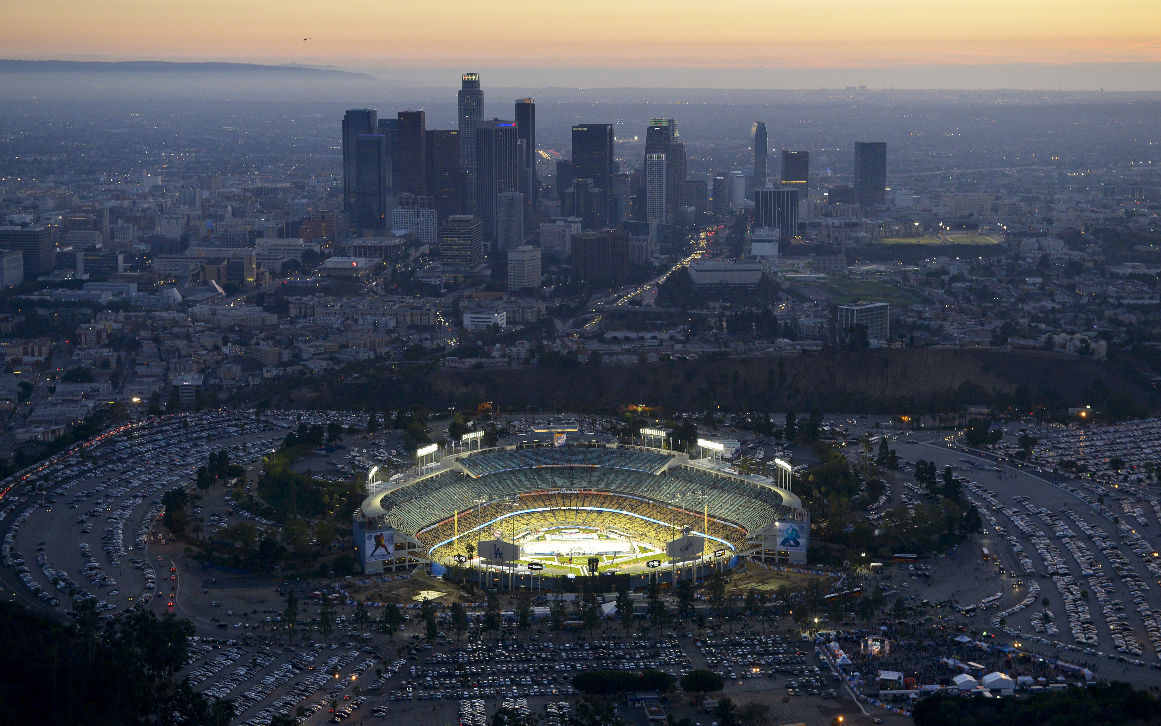 Los Angeles Dodgers ballpark Dodger Stadium Chavez Ravine 3840x2400