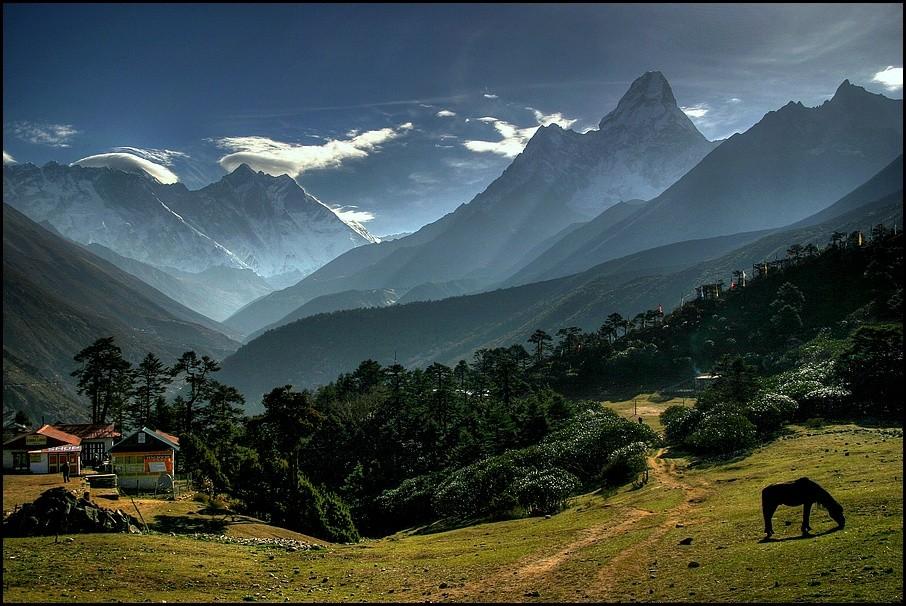 mountains landscapes tengboche himalaya nepal HD Wallpaper   Nature 906x606