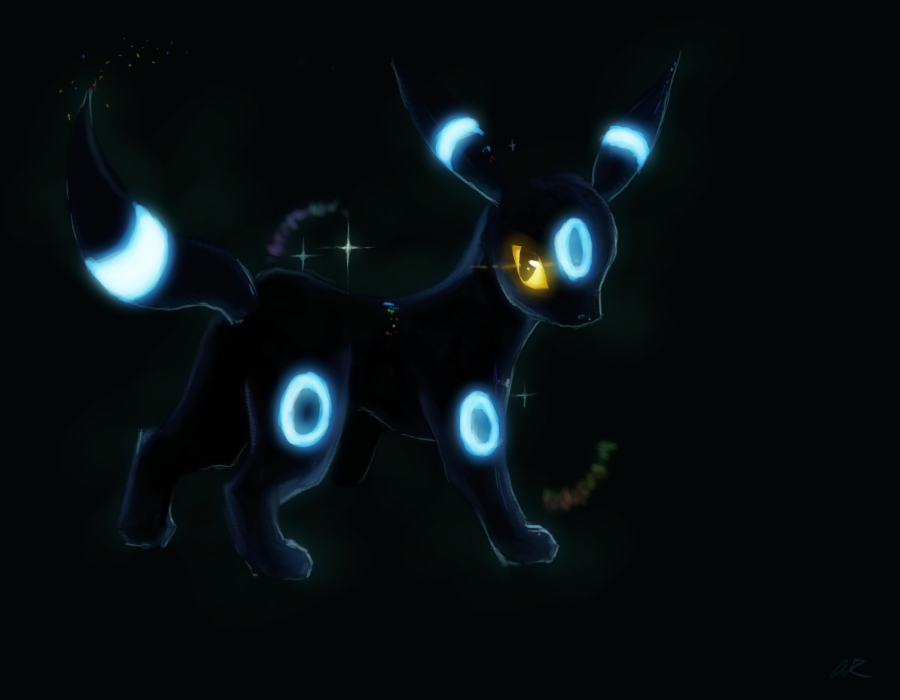 Shiny Umbreon Encounter by Kansaibou 900x700