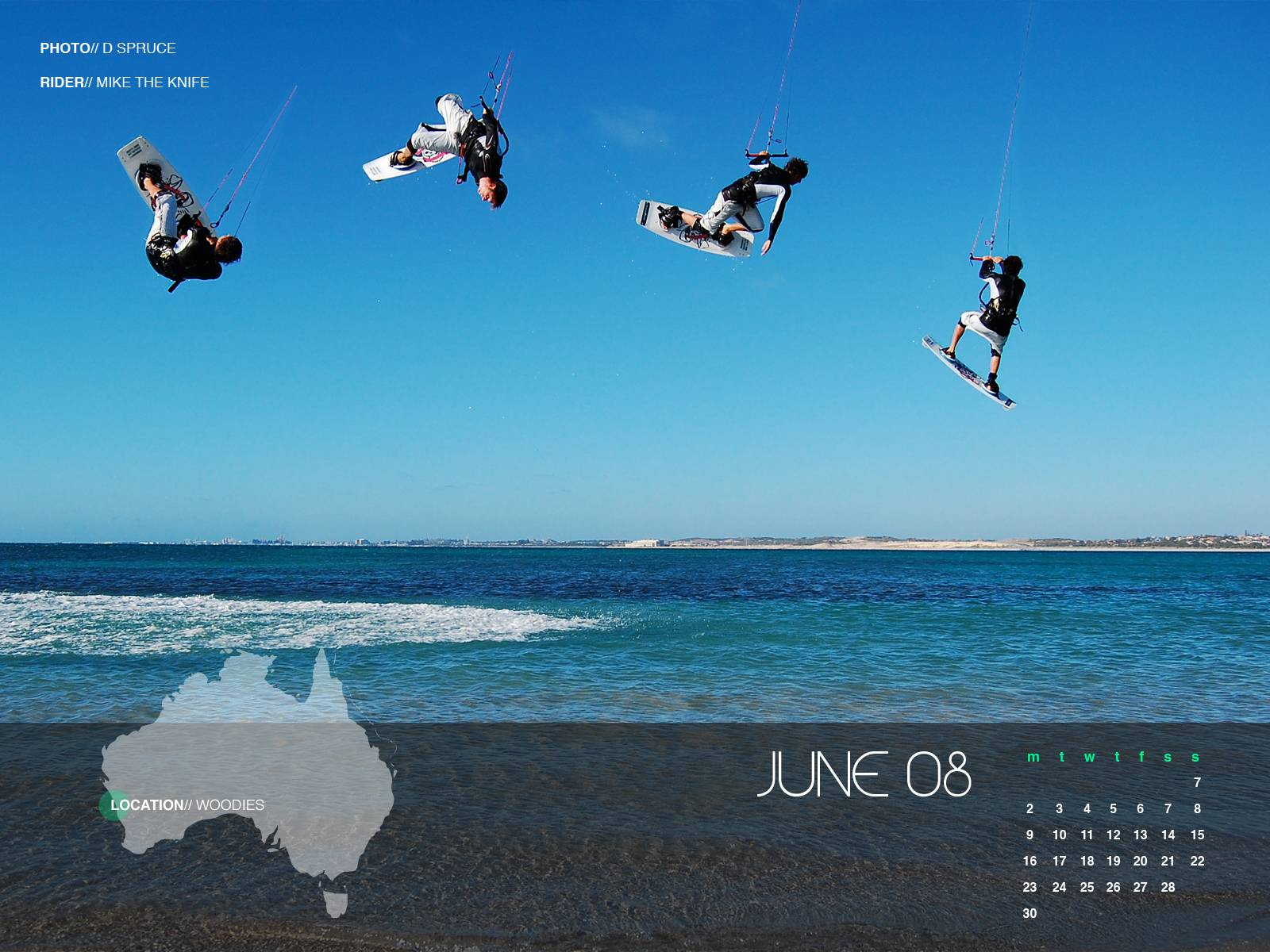 June Kiteboard Wallpaper from around OZ get yours   Kitesurfing 1600x1200