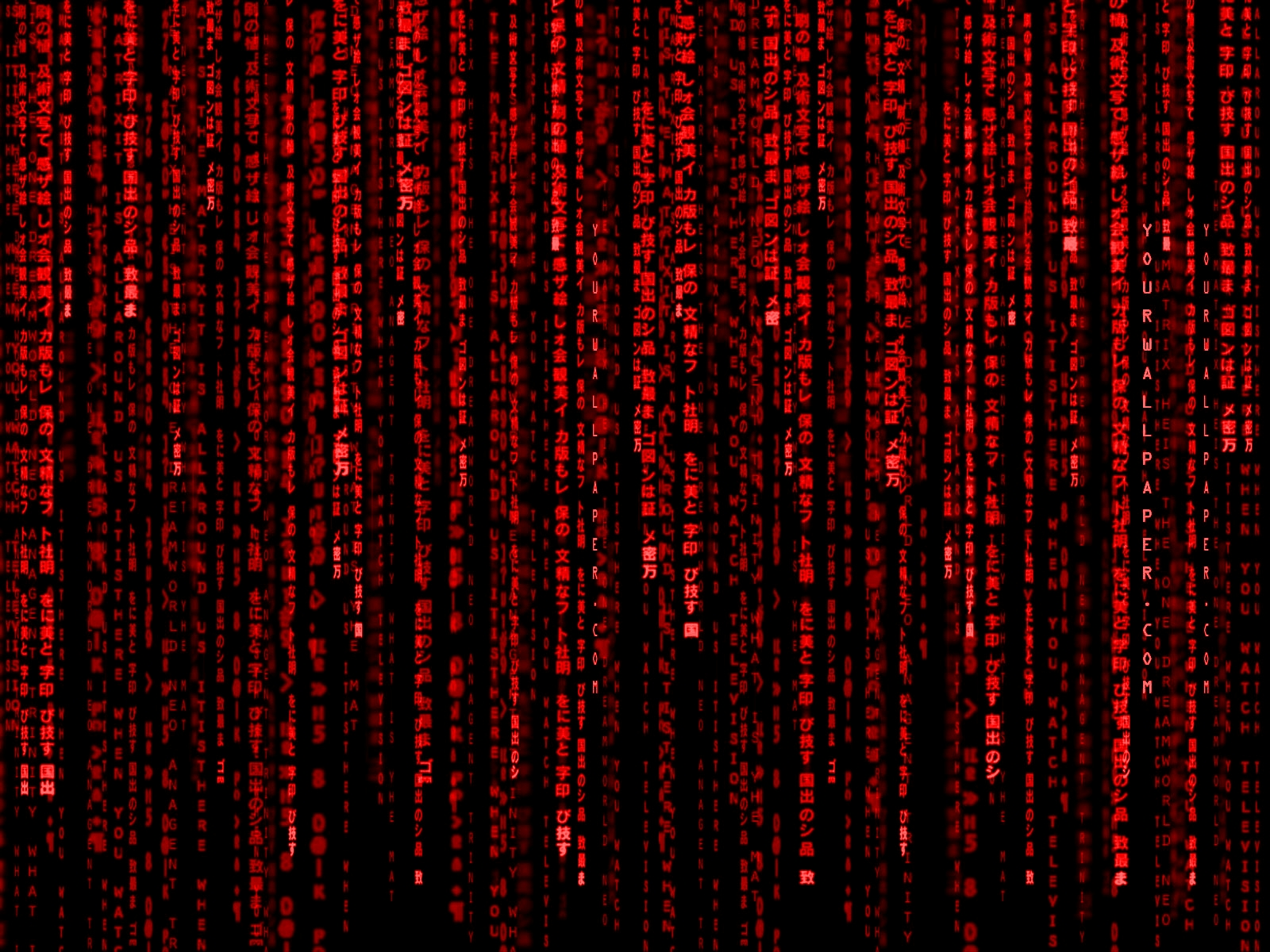 Download Red Matrix Wallpaper 1600x1200 Wallpoper 414229 1600x1200