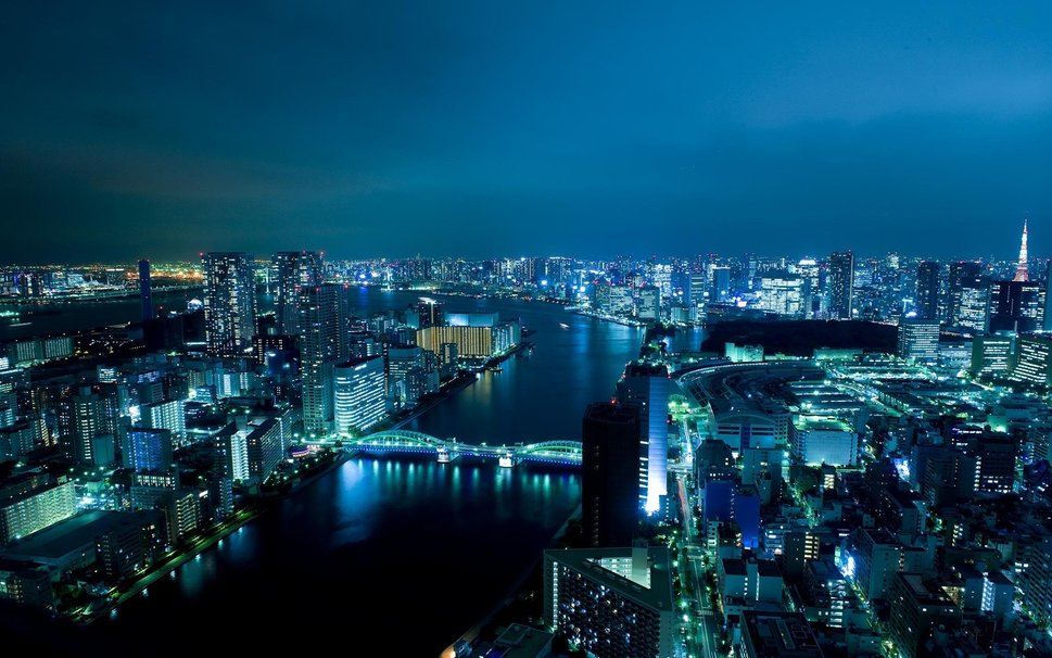 bright lights big city Night Time in Tokyo wallpaper   ForWallpaper 969x606
