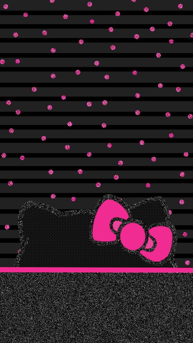Hello Kitty Black And Pink Wallpaper Wallpapersafari