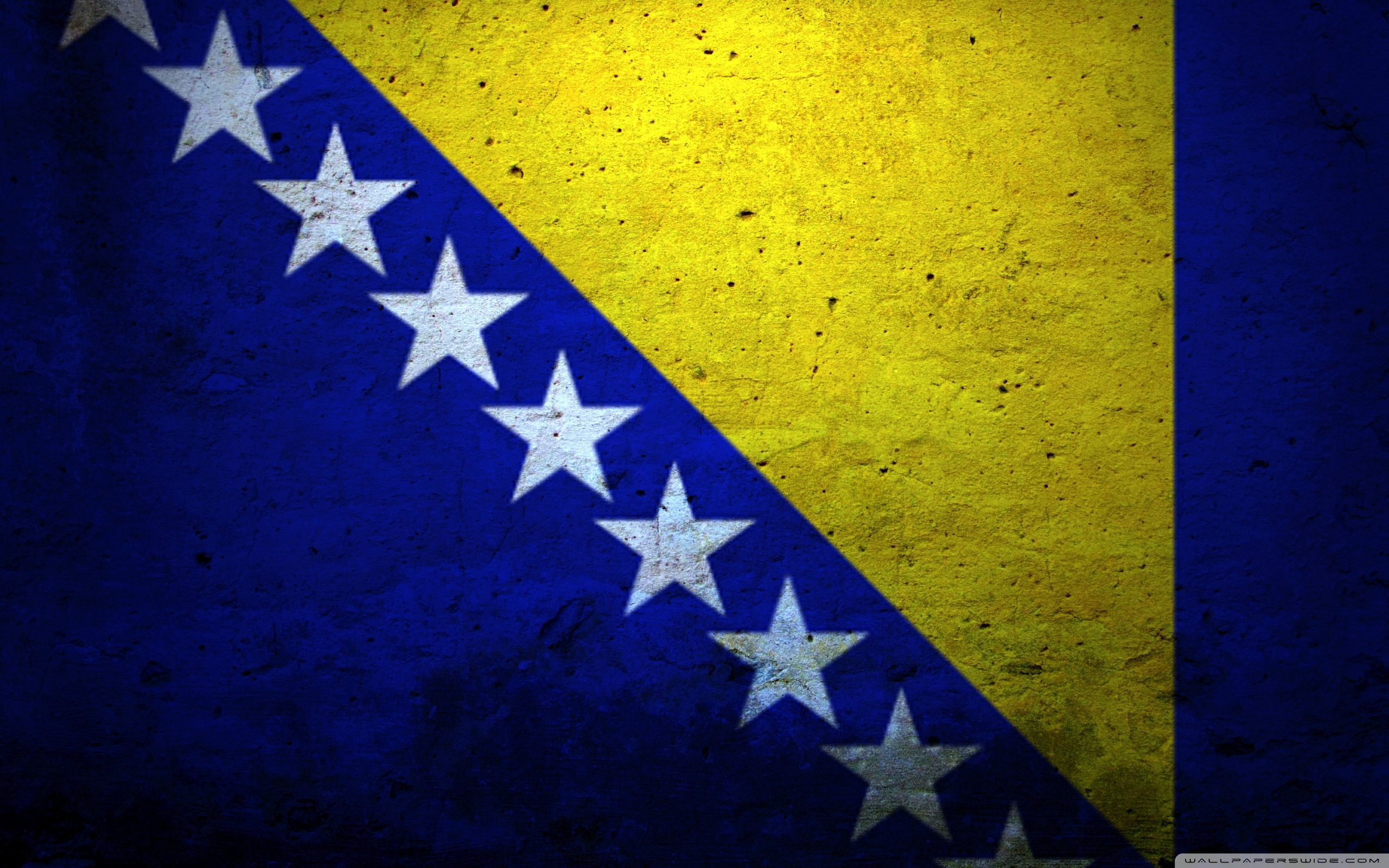 Grunge Flag Of Bosnia And Herzegovina HD desktop wallpaper Tarik 2560x1600