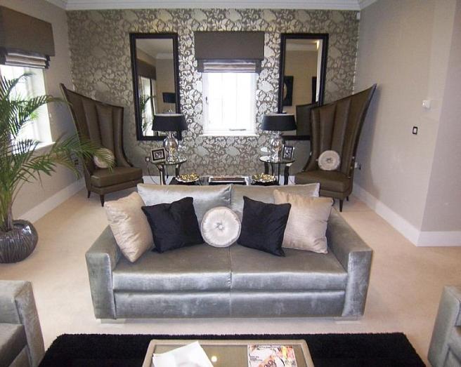 50 Silver Wallpaper For Living Room