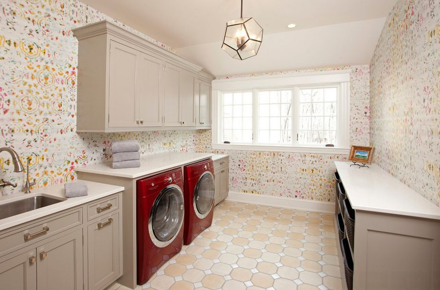 Beautiful Wallpaper Laundry Room Home Decorating Trends Homedit 904x596