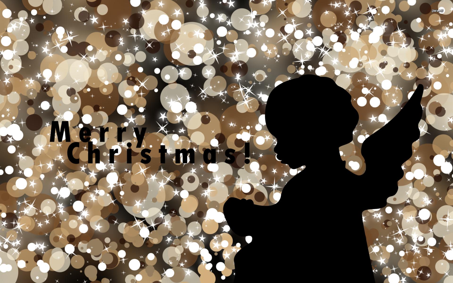 Christmas angel silhouette wallpaper 2560x1600 Christmas angel 1920x1200